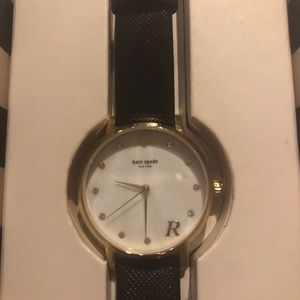 Kate Spade Black Leather Watch - R